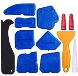 12 Stück Silikon Caulking Werkzeug Kit Silikon Dichtstoff Dichtungen für Dichtungsmasse Silikon Dichtungsanschluss (Blau)